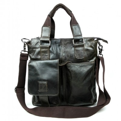 Nesitu Promotion High Quality 100% Guarantee Real Genuine Leather Cowhide Men Messenger Bags Briefcase Portfolio #M259