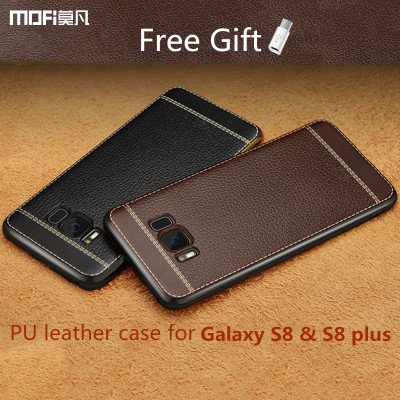 MOFi Case for SAMSUNG s8 plus case cover MOFi original for Galaxy s8 back case soft Imitation leather for samsung s8 plus cover