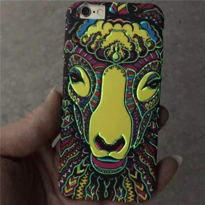 Phone Case For OPPO r10 plus r11 plus f3 plus caus Painting Luminous phone case Embossed flower animal tiger lion elephant pattern cover