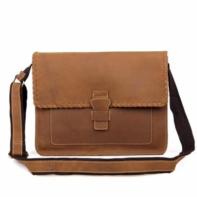 JMD Genuine Crazy Horse Leather Envelope Messenger Bag For Men Sling Bag Casual Women Sling Bag 1009B