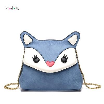 Mini Bags Womens Handbag Chain Crossbody Bag 2017 Personalized Happy Fox Shape Bag Messenger Bag Lady Flap