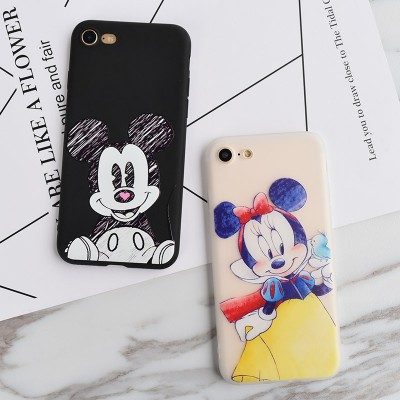 cartoon phone cases Case Minnie Mickey NEW Soft case Cartoon Couples for iPhone 6s, Fashion Phone Cover Coque for iPhone 6s Plus 7Plus 5 SE 5s cartoon cases