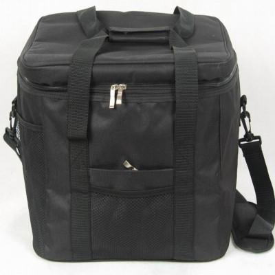 Ice bag Top Grade Waterproof Portable Fabric Thermal Cooler Bag Black Car Trunk Freezer Men Picnic Storage Bag 33L