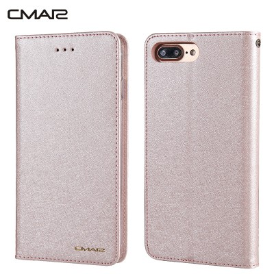 Luxury Magnetic Flip Wallet Case for iPhone 7 Plus Phone Protective Cover Coque Capinha for iPhone7 7Plus Rose Gold Case