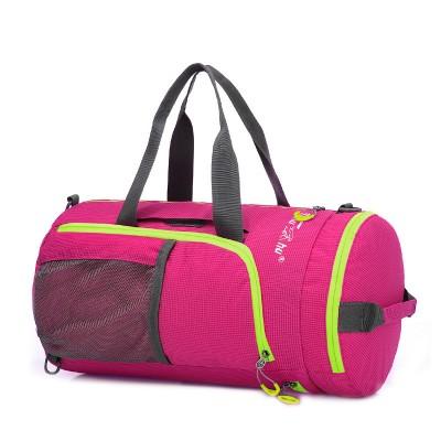 Multifunctional waterproof changeable soft folding weekender bag travel women Shoulder Messenger tote leisure barrel travel bags