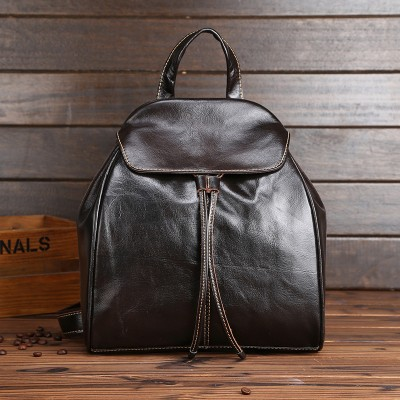 Backpacks for Girls Genuine Cowhide Leather Women Backpacks Fashion Design Female Casual School Bag for Girls Famous Brand Mini Small Vintage Bags