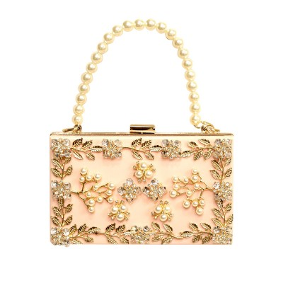 Sexy Bag 2017 fashion Women's Pearl Bag Beaded Diamond Evening Bag sweet sexy Clutch Purse Handbag chain shoulder bags tote bags