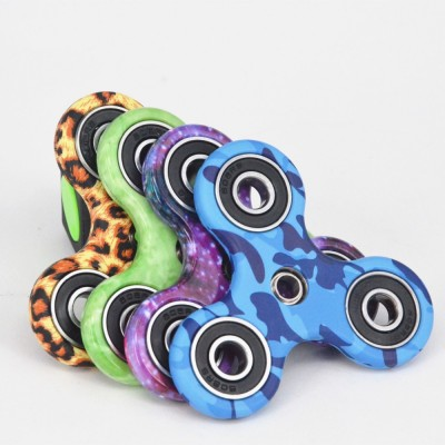 Finger Fidget Toys 100pcs/lot NEW camo Hand Spinner Fidget Spinner Fingers EDC Acrylic Plastic Fidgets Toys Gyro Toys With Retail Box