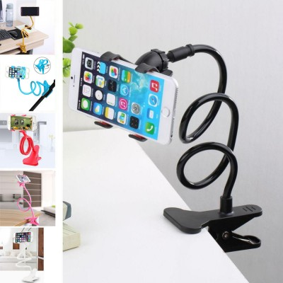 2017 New Universal Long Arm Lazy Mobile Phone Clip Holder Desk Bed Stand Bracket 360 Rotating For iphone