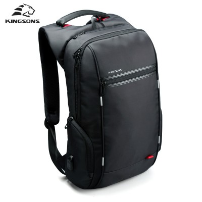 Kingsons Brand External USB Charge Antitheft Notebook Backpack-B ...