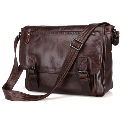 Sale Rushed Single Cover Bags Genuine Leather Handbags Vintage Handbag Men Briefcases Natural Shoulder Bag Male Messenger