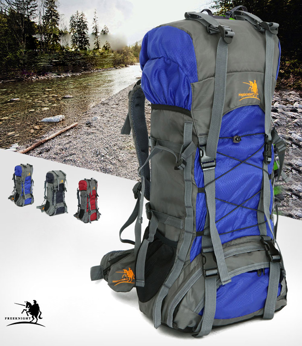 Free Knight 60L Waterproof Durable Outdoor Climbing Backpack Bag Women&Men Hiking Athletic Sport Travel Backpack High ...