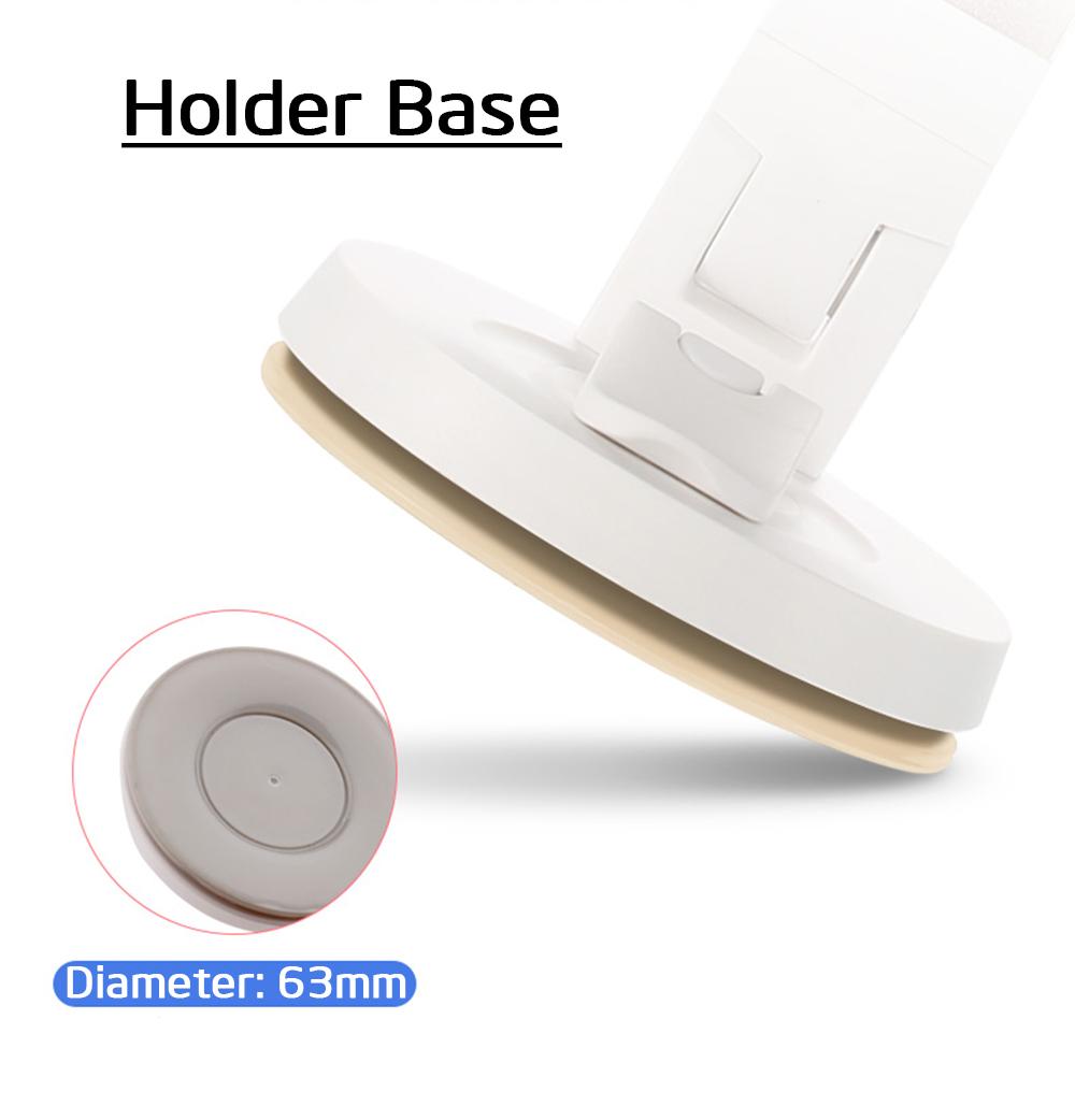 Unversal Silver Mobile Phone Holder Stand 360 Rotating Desk Car Desktop
