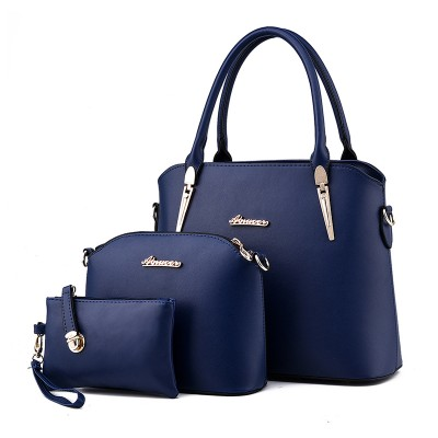 Luxury High Quality Composite Bag 3 Set Women Leather Handbags Shoulder Tote Lady Clutch Purse Female Small Shell Messenger Bags