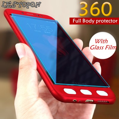 Luxury 360 Full Cover Cases For Samsung Galaxy A7 A5 2019 S7 S6 case protector Cover For Galaxy A5 A7 2019 case With Glass Film