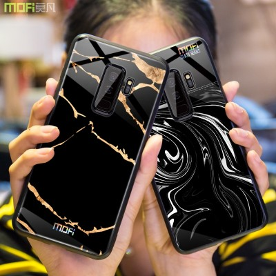 Mofi Case For Samsung Galaxy S9 for Samsung Galaxy S9 Plus Glass Hard Case & Cover for Samsung Galaxy S9 S9 Plus Marble Grain