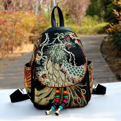 2019 New Traditional Backpacks Teenager Girls National Embroidery Backpack Travel Shoulder Bags School Bag Women Backpacks