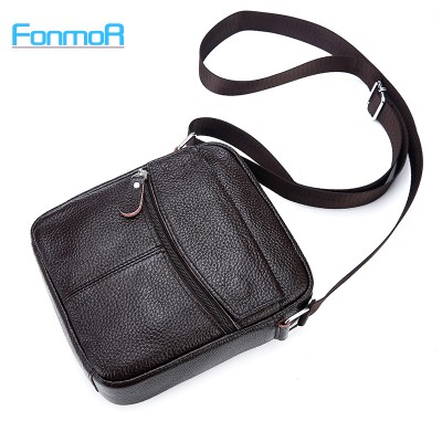 FONMOR High quality Brand Genuine Leather bag Vintage Designer Men Crossbody bags Cowhide leather small messenger bag for man