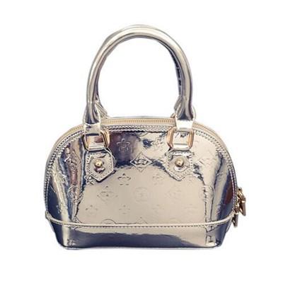 European and American fashion embossing 2019 bright patent leather women shell bag ladies PU handbag casual shoulder bag