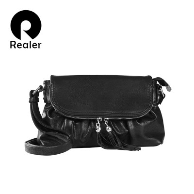 REALER brand new design russian style women shoulder bag high quality women hobos fashion artificial leather bag