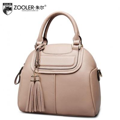 2019 New genuine leather women bag brand fashion quality fashion tassel shell women leather handbags shoulder bag