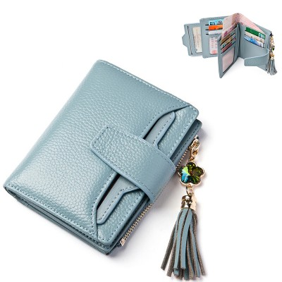 LANVERA Genuine Leather Women Purse Wallets Female Short Brand Card Wallet 19 Card  Ladies Small Wallets Clutch Purse For Coins