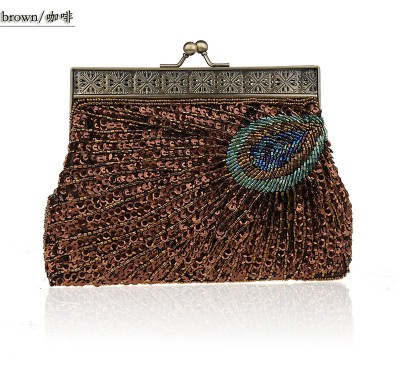 2017 Vintage Fashion Handmade Beaded Evening Bag Women Clutch Bag Delicate Banquet Bags Bride Wedding Party Purse Chain Bolso
