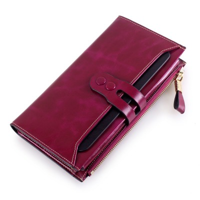 2017 New Arrival Women Wallets Genuine Leather High Quality Long Design Clutch Cowhide Wallet High Quality Fashion Female Purse