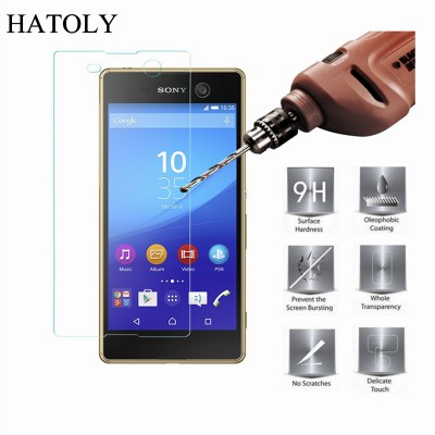 For Glass Sony Xperia M5 Tempered Glass for Sony Xperia M5 Screen Protector for Sony Xperia M5 Glass E5663 Protective Thin Film