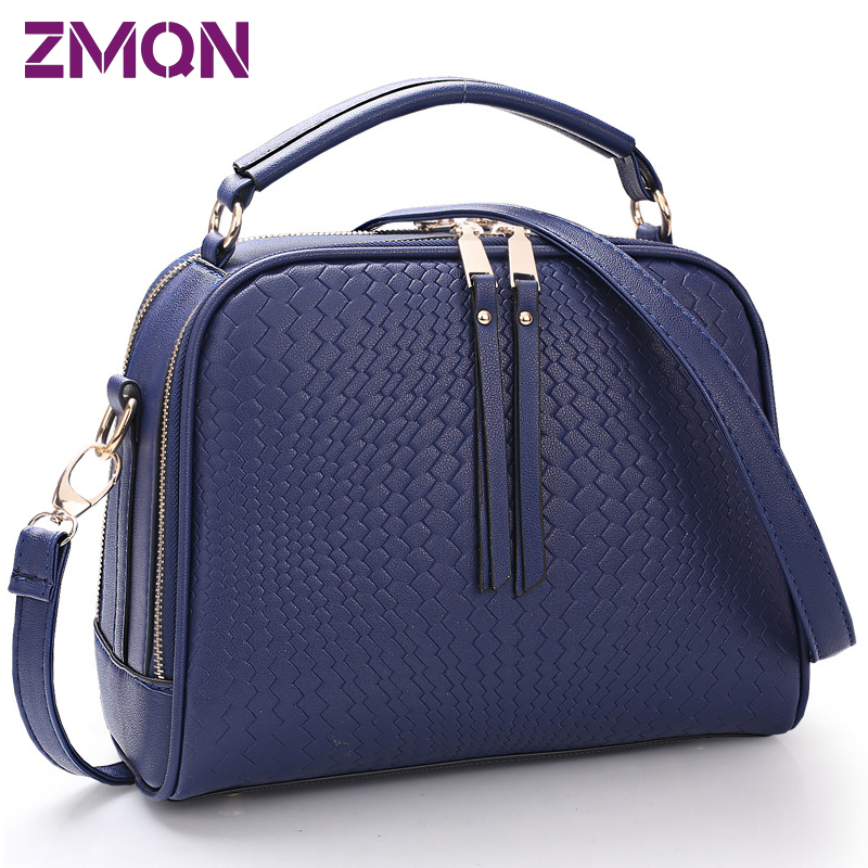 33801e29a075 Two Zipper Women Crossbody Bags For Women Small Handbags Leather ...