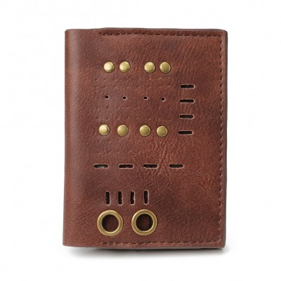 Steampunk Retro Trend Men's Wallet Vintage Metal Rivets Purses Punk Brown Stylish Short Wallet For Men Women