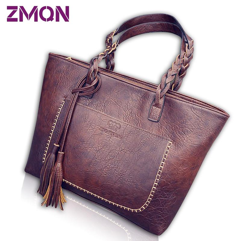 f0af0e973ed2 Women Handbags Vintage Bags Retro PU Leather Tote Bag For Girl Large  Handbag Women Tassel Casual Hand Bag Shoulder Sac Femme 704