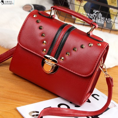 HANSOMFY     2019 The New Year New Pattern European Fashion Package Woman Package Joker Candy Color Single Shoulder Satchel