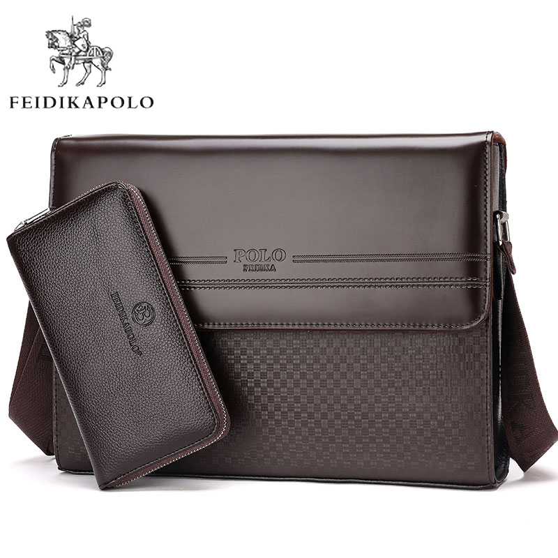 high fashion huge discount new collection 2019 Vintage Men's Bussiness Travel Bag Messenger Bag Men Leather Satchels  Men Casual Briefcase Leisure Shoulder Bag Wholesale