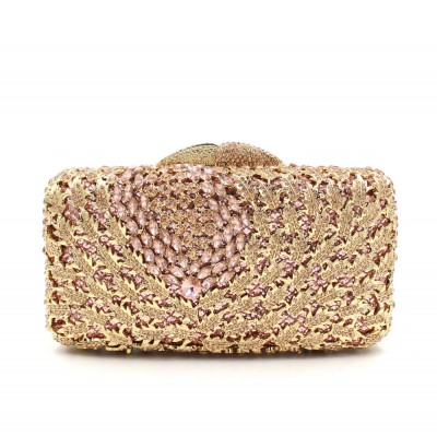 Luxury crystal clutch bag red colorful women evening bags paisley party pochette bag bridal sac soiree prom hand Purse bags