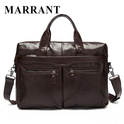 Men's Genuine Leather Briefcase Shoulder Bag Casual Handbag Totes Crossbody Men Messenger Laptop Bag Business Leather Briefcase
