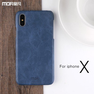 MOFI Phone case For iphone X case cover PU leather for iphonex edition back cover hard brown blue for ix case capa coque funda