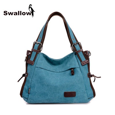 2017 Fashion Canvas Bag Women Handbag Shoulder Bags Messenger Bags Casual Blue Hobos Bolsa Feminina High Quality Large Capacity
