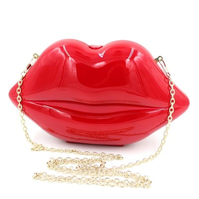 Red lip evening clutches for party original blue dinner handbags lady clutch phone bag purse designer women bag for girls XA711A