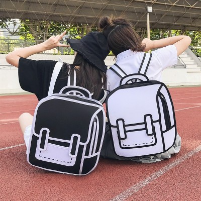 2019 Brand Women Backpack 3D 2D Drawing Cartoon Backpack Comic Fashion Cute Student Waterproof school Bags backpack for boys girls