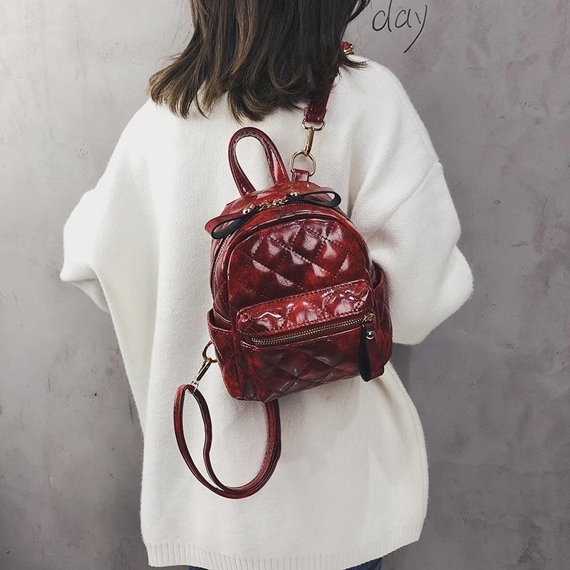 Women/'s Leather Backpack Fashion Mini Backpack School Bags for Teenage Girls Bag