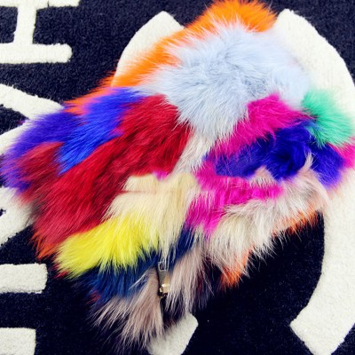 100% Genuine Mink Women Handbags Colorful Fox Fur Day Clutch Bags Chain Shoulder Envelope Party Purse Leather Clutch Evening Bag