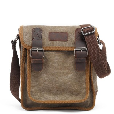 2017 Real New Nylon Single Hard Men Hasp Canvas Crossbody Solid Small Bag Military Army Messenger Bags Flap Shoulder Casual