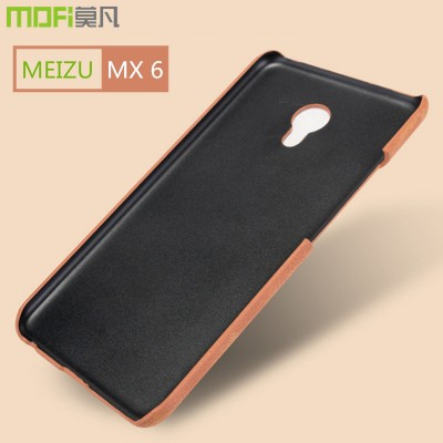 meizu mx6 case MOFi original meizu mx 6 phone cover back PU leather hard accessories coque funda shell capa brown 5.5 inch