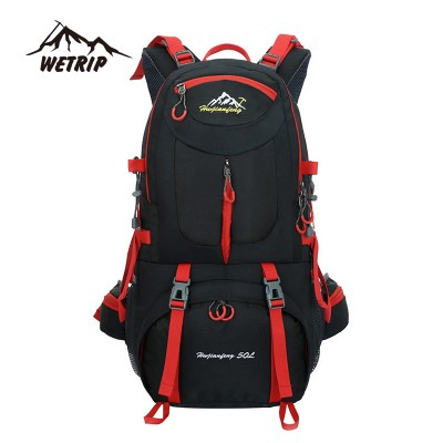 lightweight hiking backpack best day hiking backpack Outdoor  Backpack sports bag Hiking Cycling Bag Climbing 50L Lightweight Waterproof  Travel Backpack Big Load  Knapsack Rucksack waterproof hiking backpack