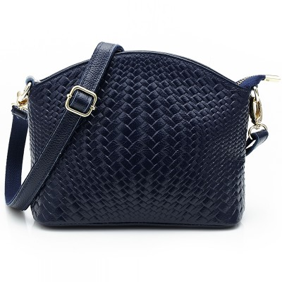 2017 spring and summer women handbags woven-pattern Woman's Genuine cow Leather messenger bags lady crossbody bag HBL2881
