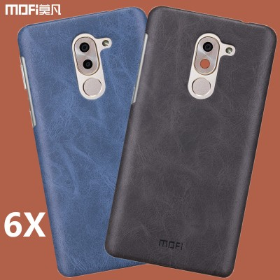 "Huawei honor 6X cover case MOFi original PU back cover hard PC+PU leather case capa coque funda hawei honor6x case brown 5.5"" Phone Cases For huawei"