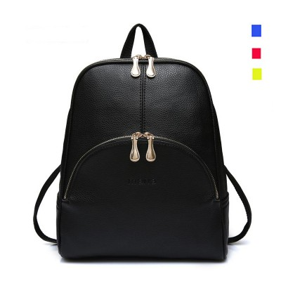 2019 Fashion Backpacks Women PU Leather School Bag Girls Female Candy Colors Travel Shoulder Bags Waterproof Back Bags Mochila