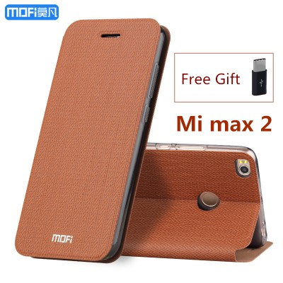 MOFi Case for Xiaomi mi max 2 case flip case stand holder MOFi original xiaomi max 2 case cover full cover capa coque funda carcasa hoesjes