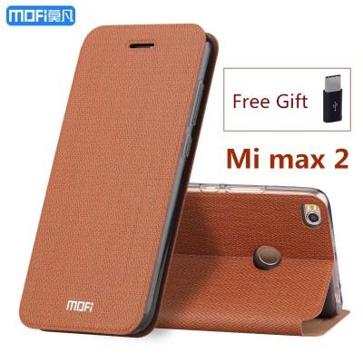 MOFi Case for Xiaomi mi max 2 case flip case stand holder MOFi original xiaomi max 2 case cover full cover capa coque funda carcasa hoesjes
